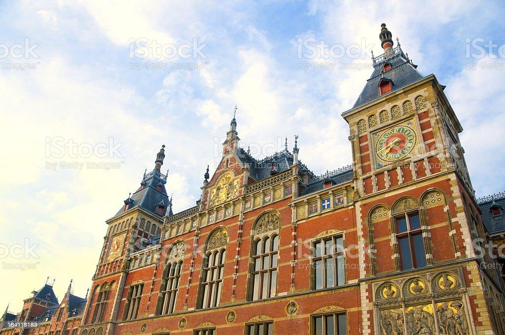 Amsterdam Centraal railway station stock photo