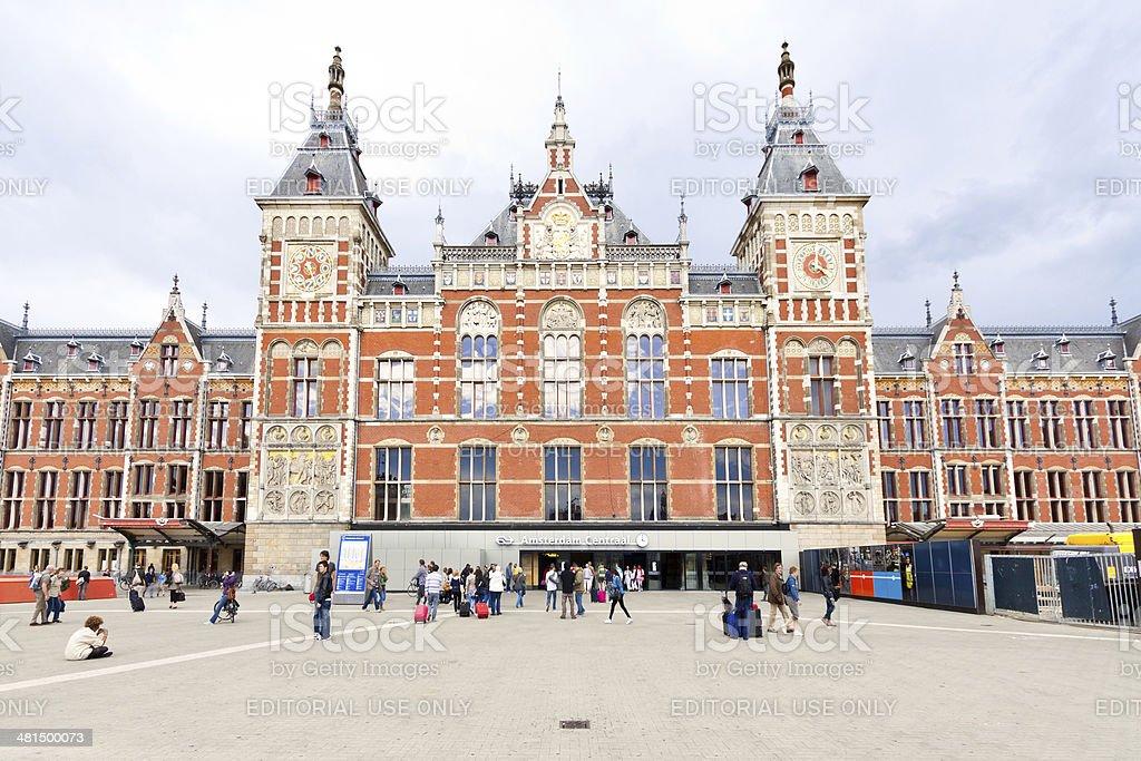 Amsterdam Centraal Railway Station. stock photo
