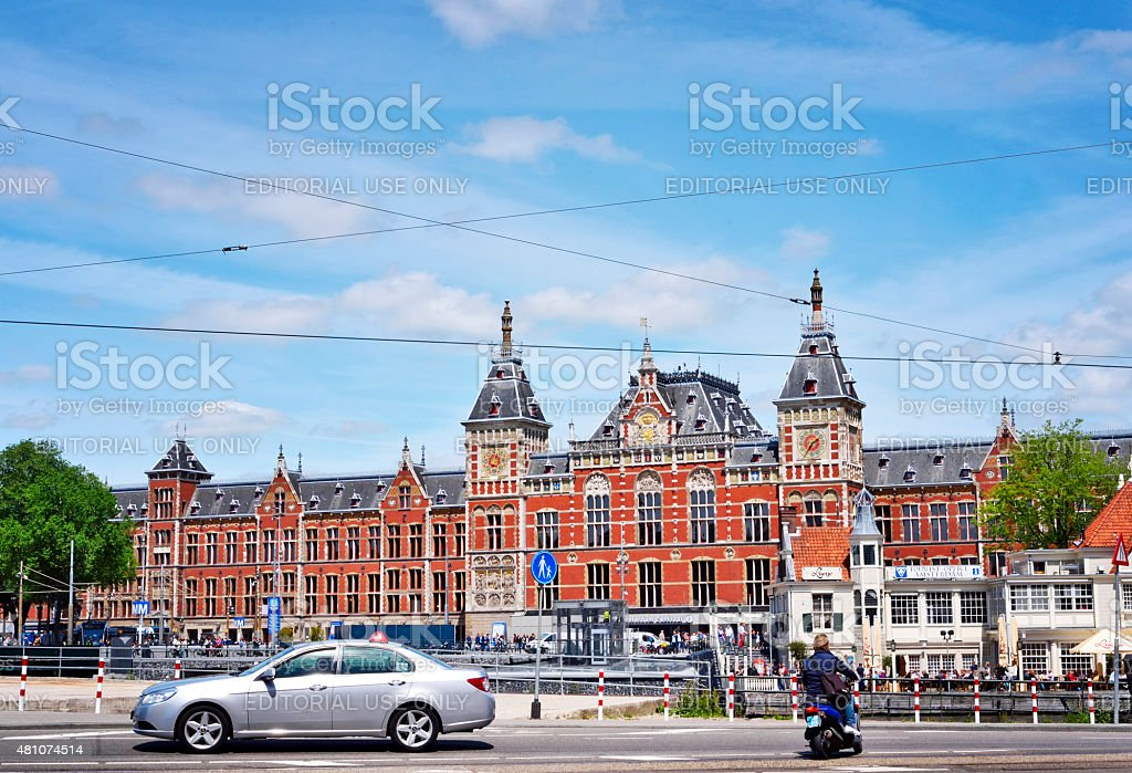 Amsterdam Centraal Station stock photo
