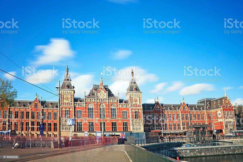 Amsterdam central railway station, Netherlands stock photo