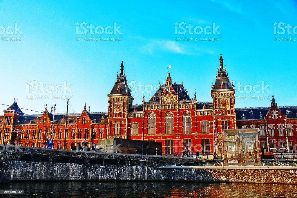 Amsterdam Central station, Amsterdam, Netherlands stock photo