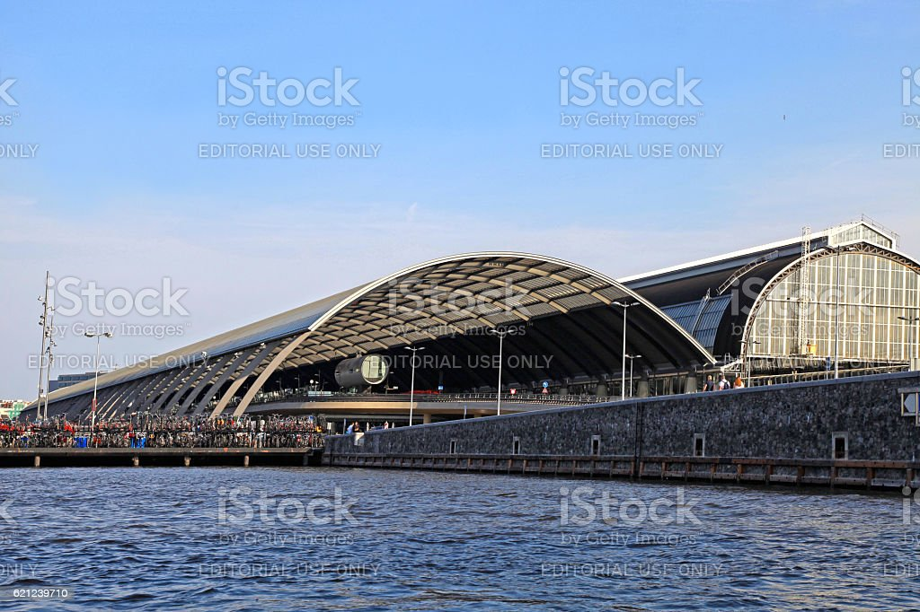 Amsterdam Central Station, Netherlands. stock photo