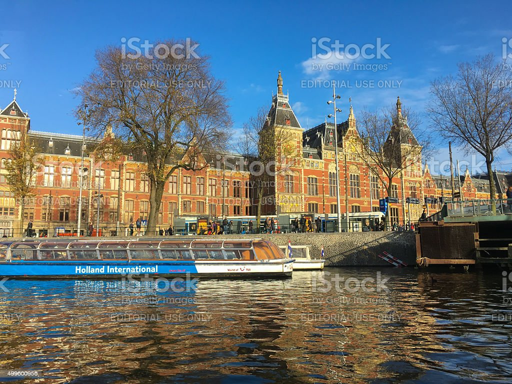 Amsterdam Central Station stock photo