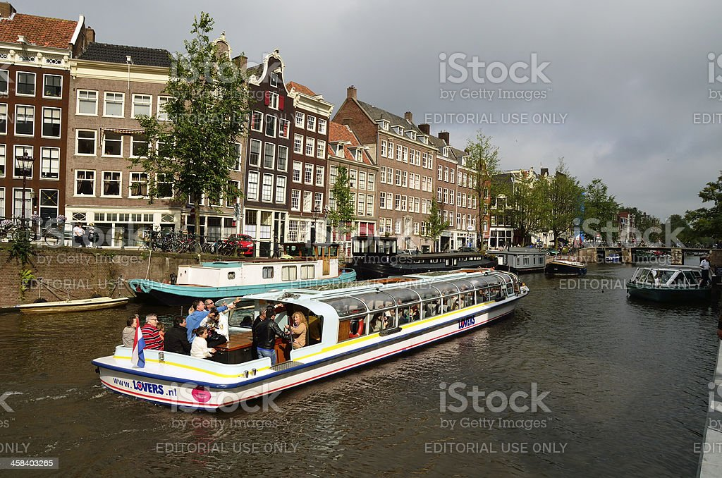 Amsterdam channel tour royalty-free stock photo