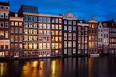 Amsterdam city by night