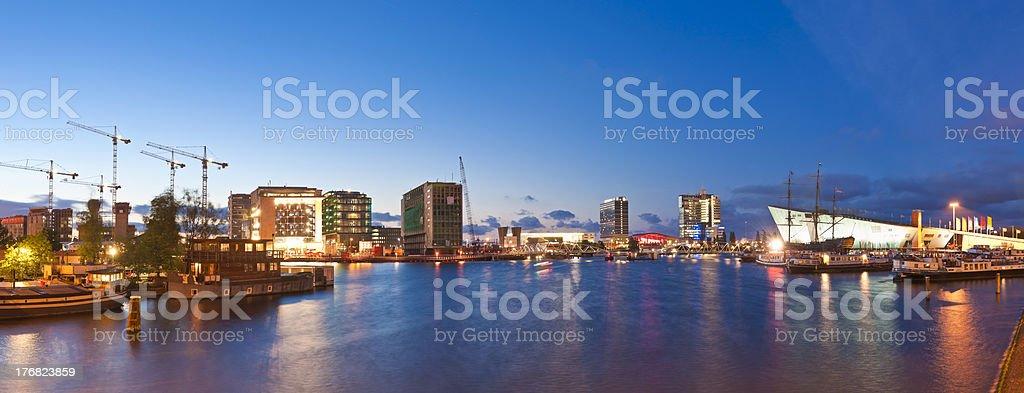 Amsterdam City Development, Oosterdok royalty-free stock photo