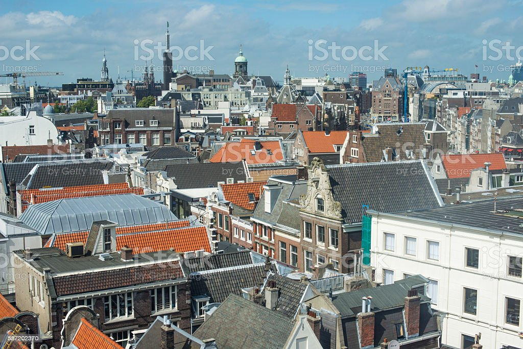 Amsterdam City from above stock photo