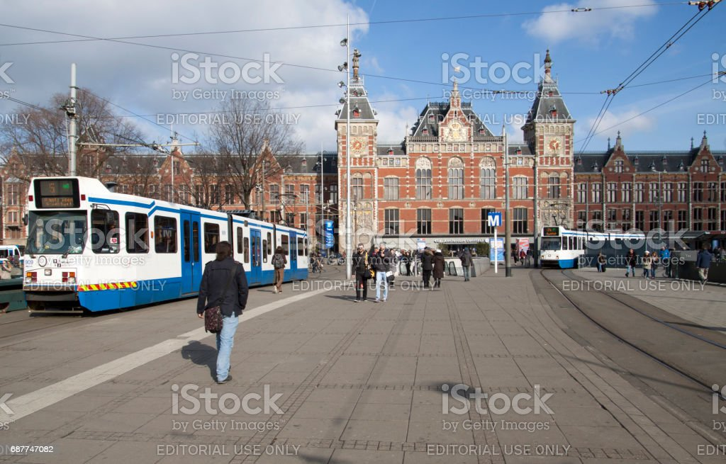 Amsterdam city of tourists stock photo