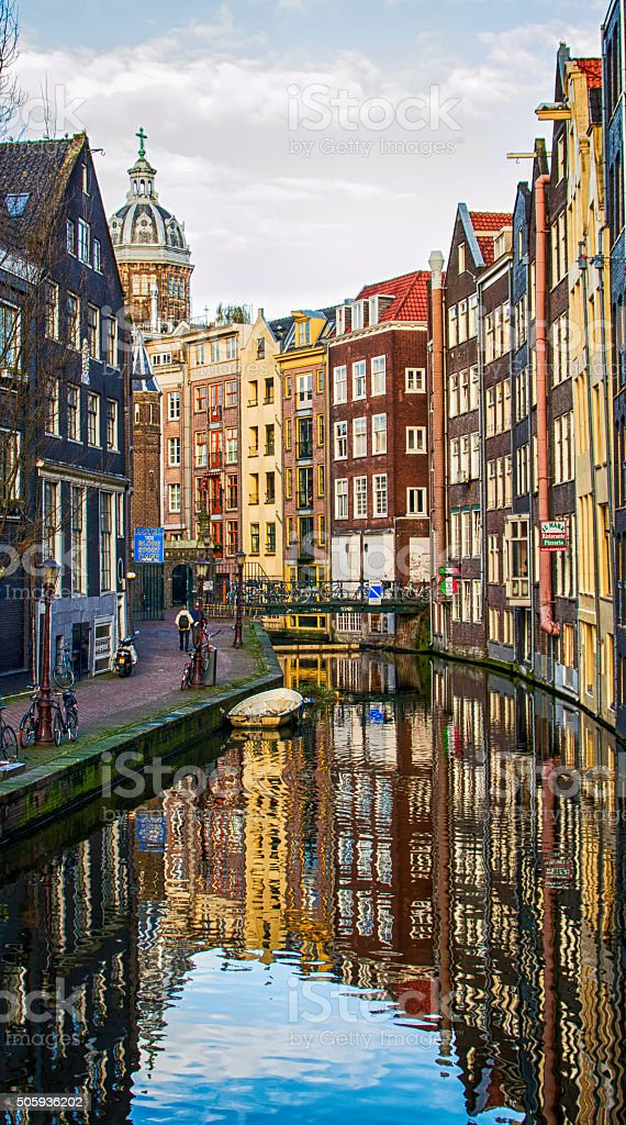 Amsterdam City Scene stock photo