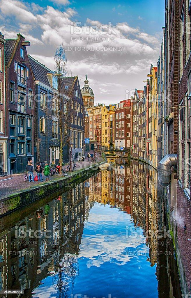 Amsterdam City Scene stock photo