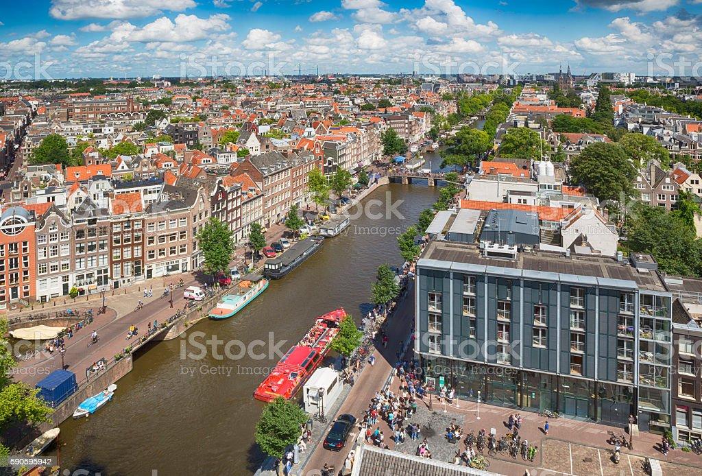 Amsterdam Cityscape stock photo