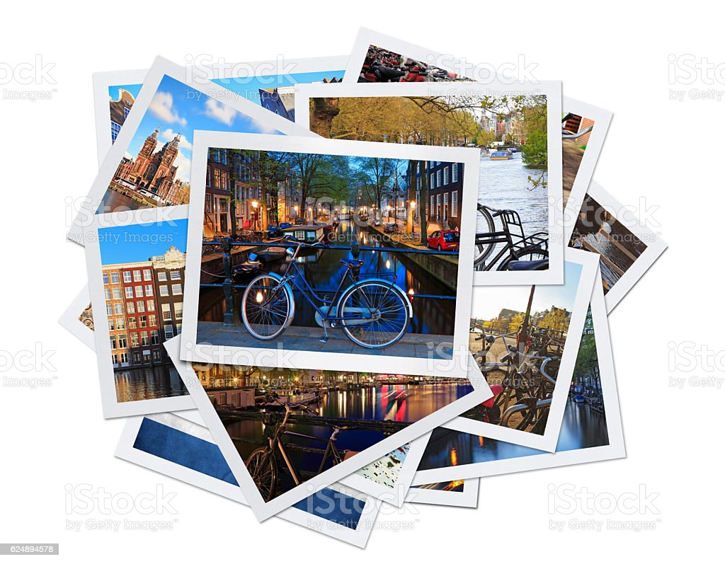 Amsterdam Collage (Clipping Path) stock photo