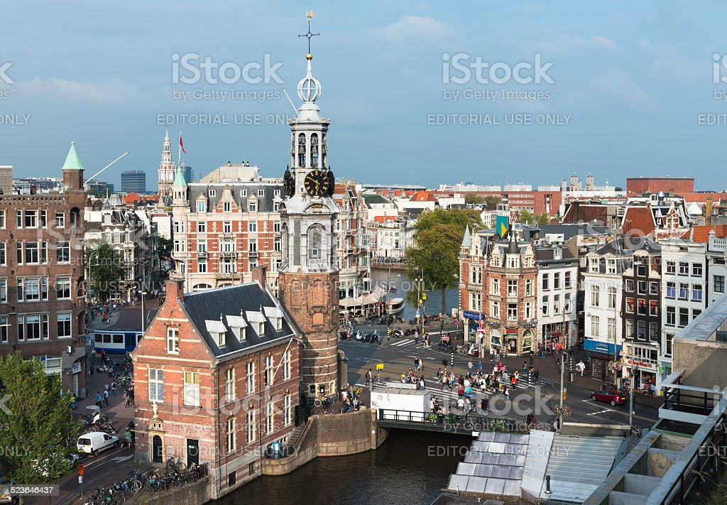 Amsterdam from above, the Netherlands stock photo