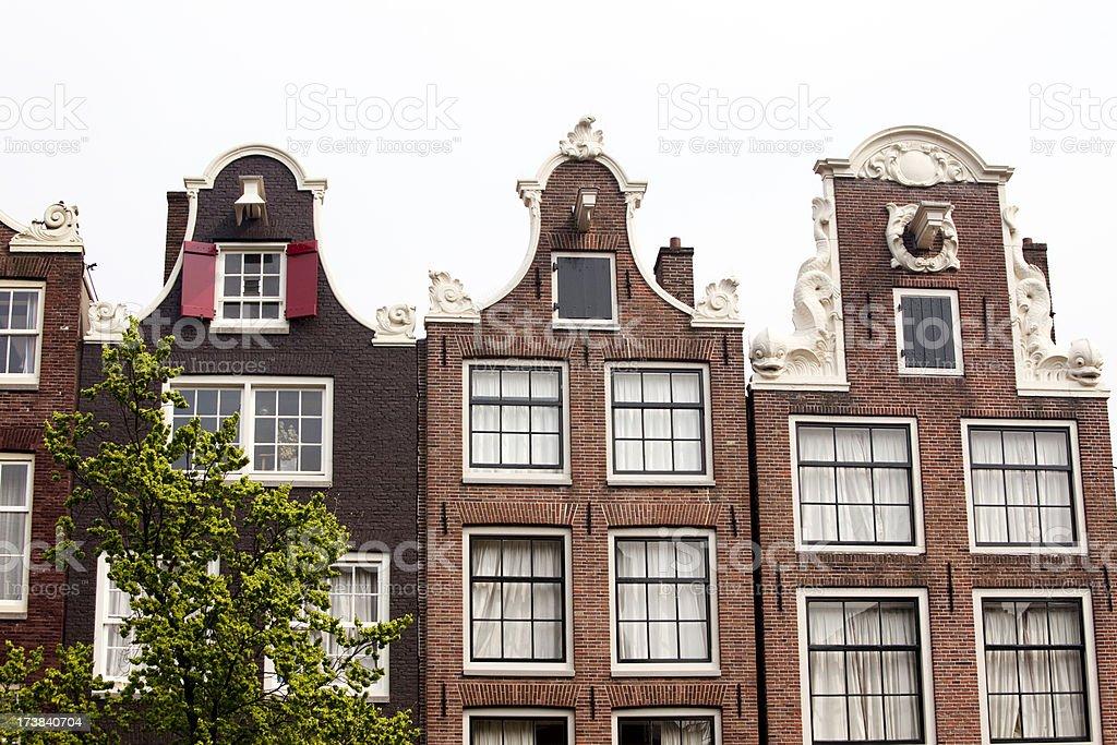 Amsterdam Gabled Houses stock photo