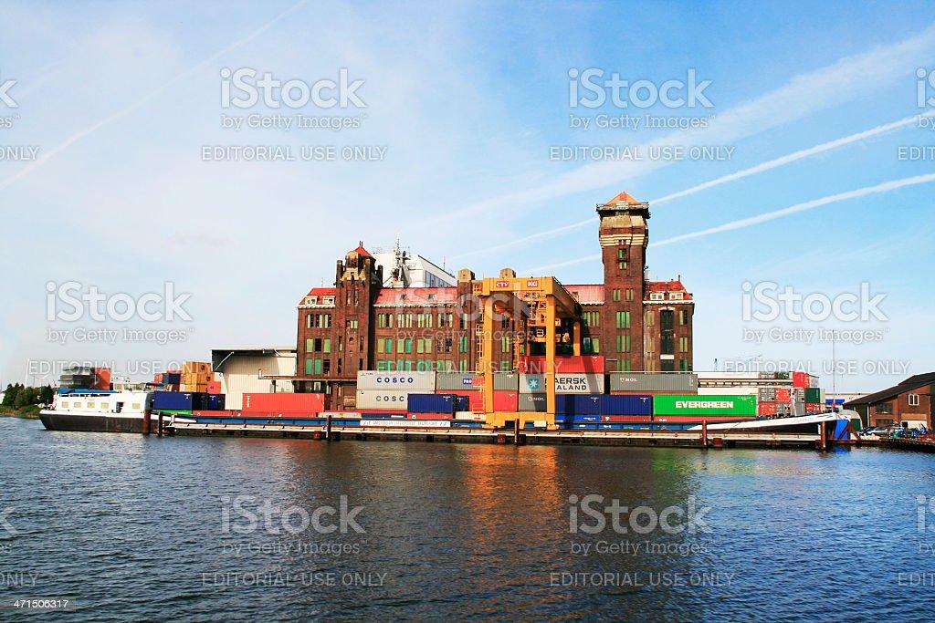 Amsterdam Harbor stock photo