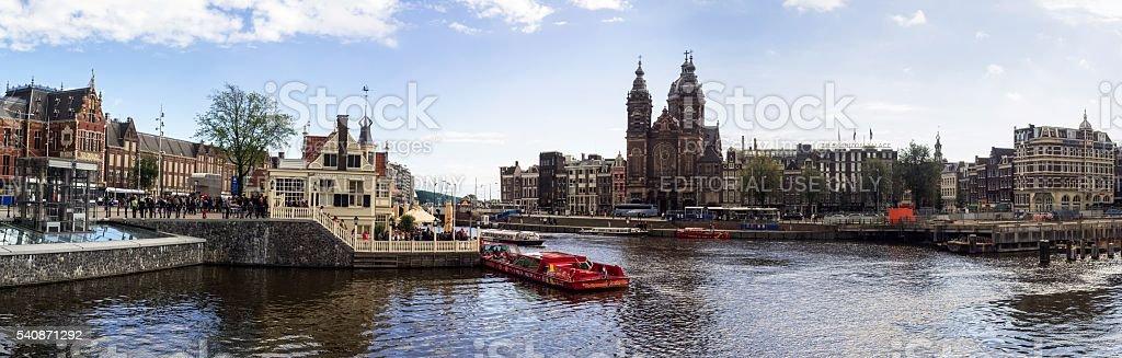 Amsterdam High-Resolution Panorama stock photo