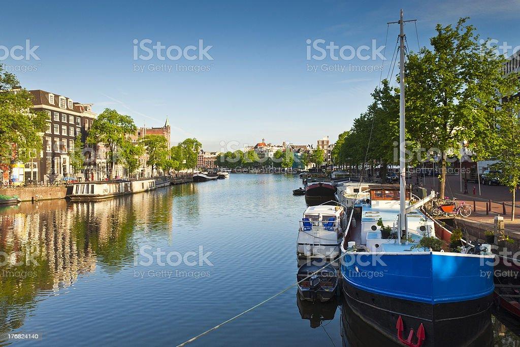 Amsterdam House Boats, Holland stock photo