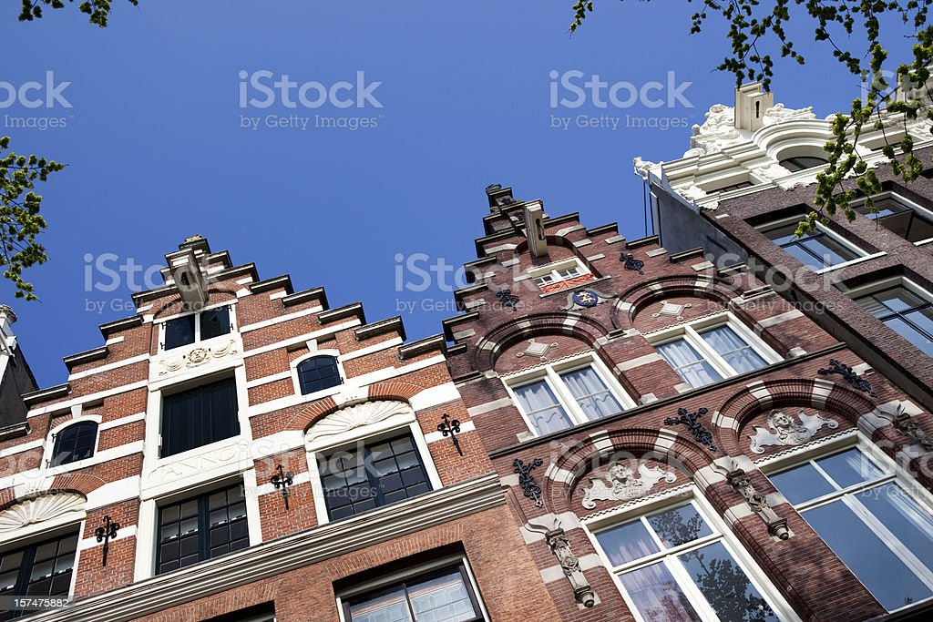 Amsterdam House Tops in Netherlands stock photo