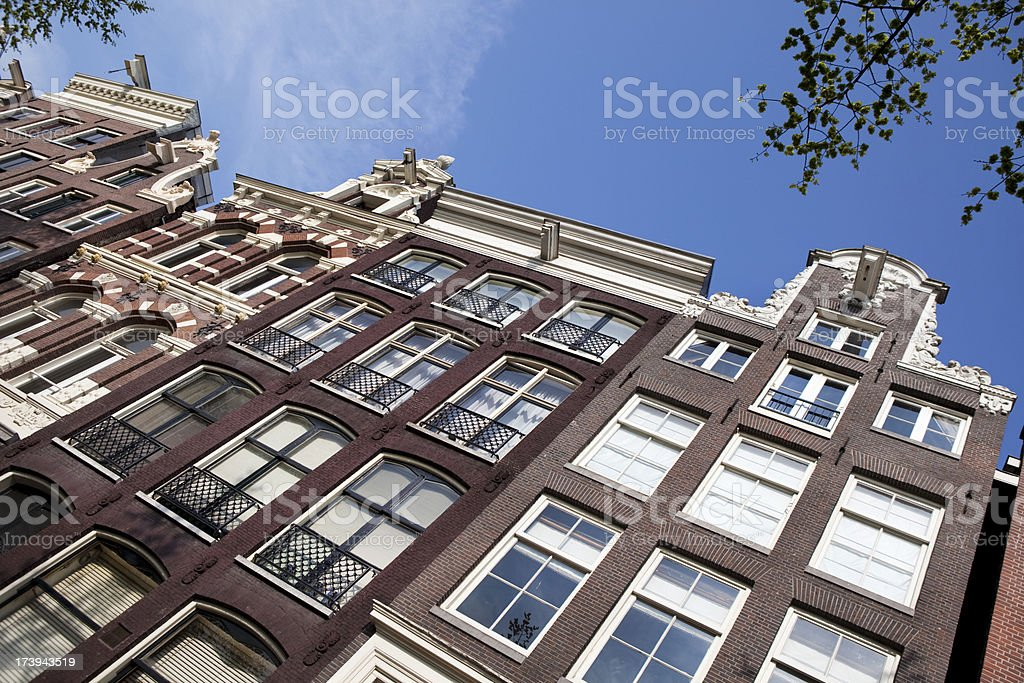 Amsterdam Houses in Holland stock photo