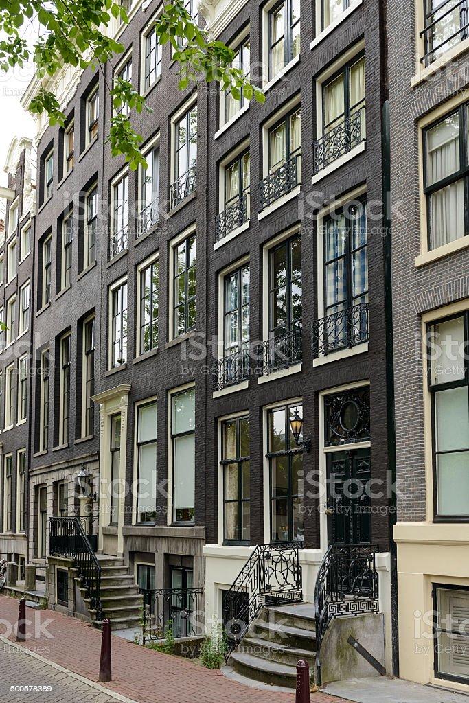 Amsterdam houses royalty-free stock photo