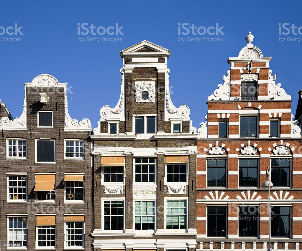 Amsterdam houses royalty-free stock photo
