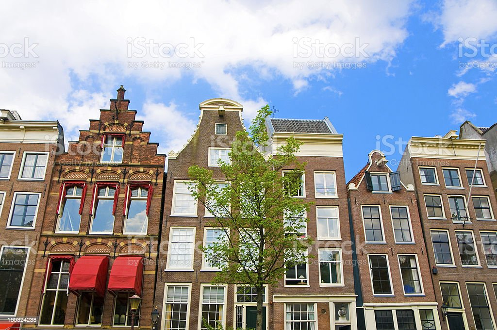Amsterdam Houses Typical Dutch Architecture royalty-free stock photo