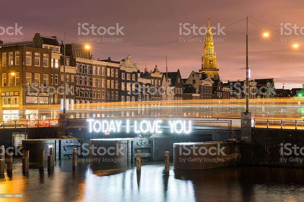 Amsterdam I love you stock photo
