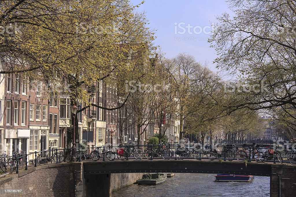 Amsterdam in Spring royalty-free stock photo