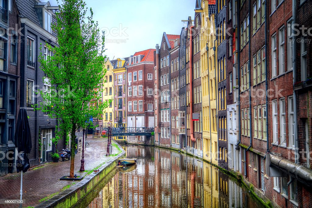 Amsterdam in the summer stock photo