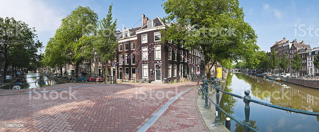 Amsterdam in the summer sun. royalty-free stock photo