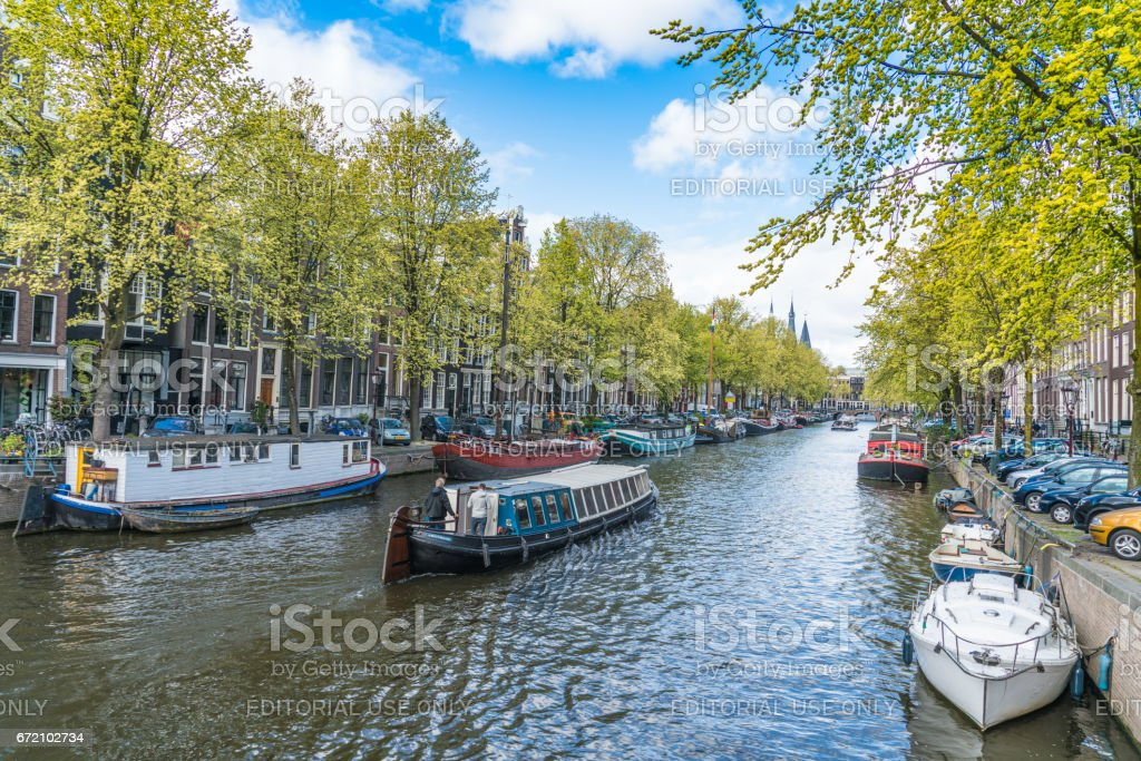 Amsterdam Keizersgracht Canal stock photo
