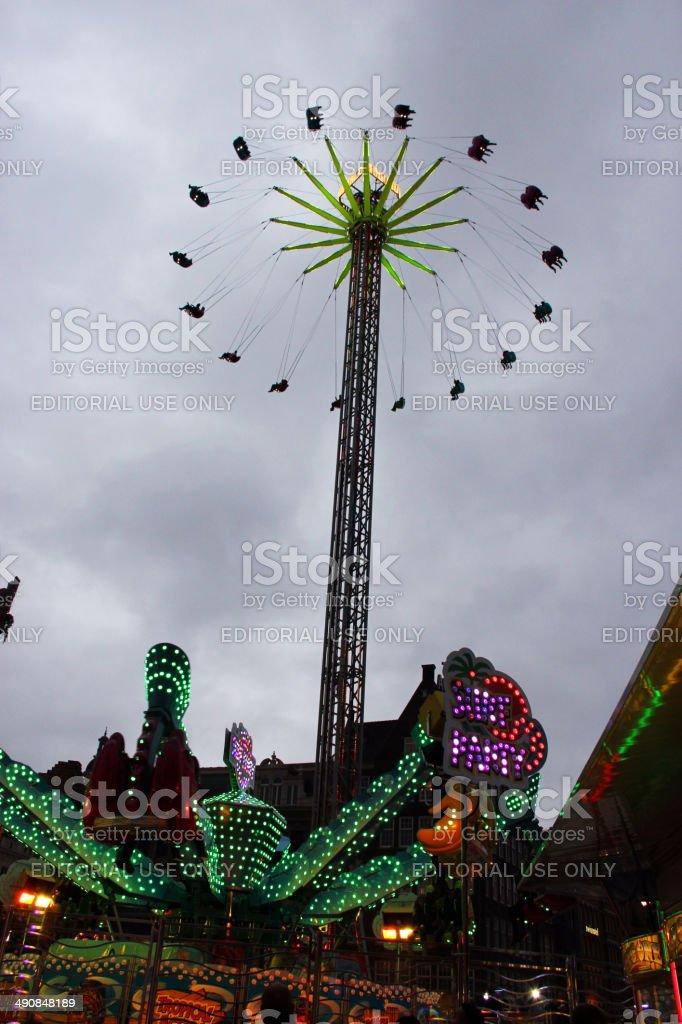 Amsterdam: Kermis October Fun Fair at Dam Square stock photo