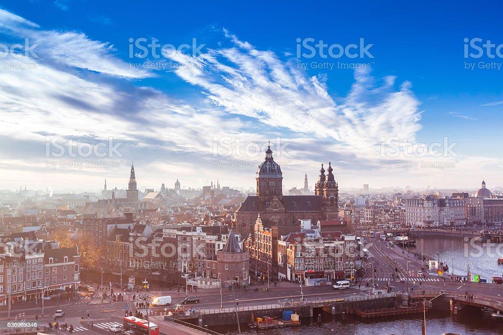 Amsterdam landmark stock photo