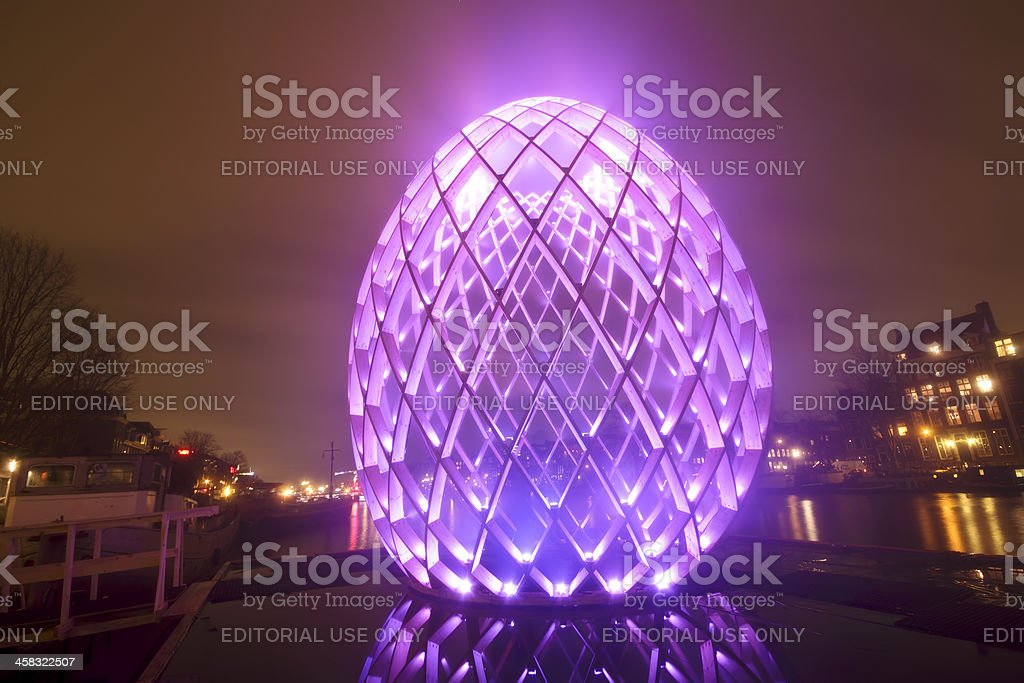Amsterdam Light Festival in the Netherlands royalty-free stock photo