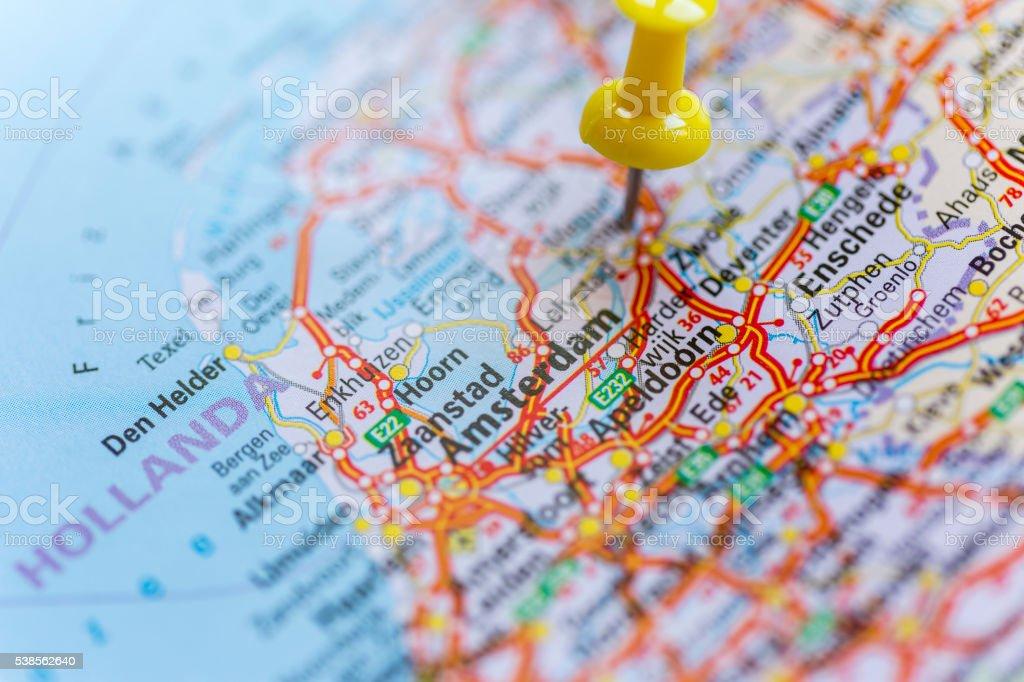Amsterdam map stock photo