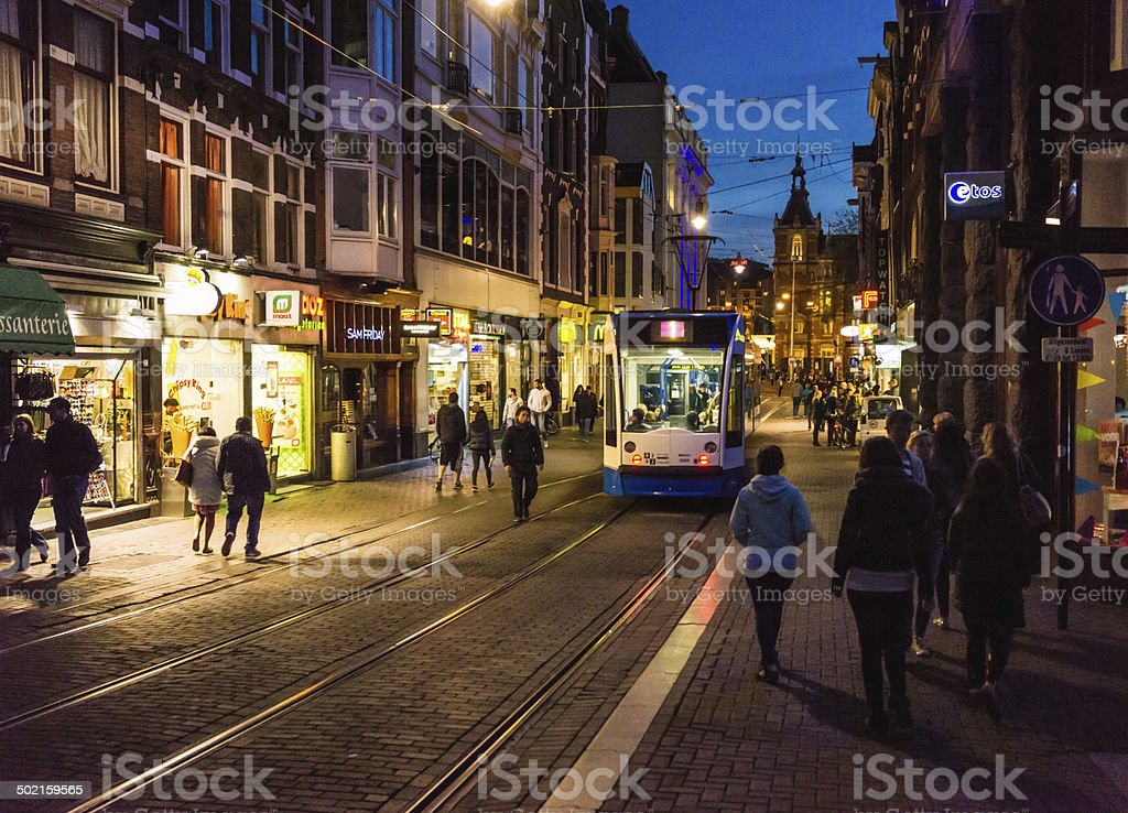 Amsterdam night stock photo