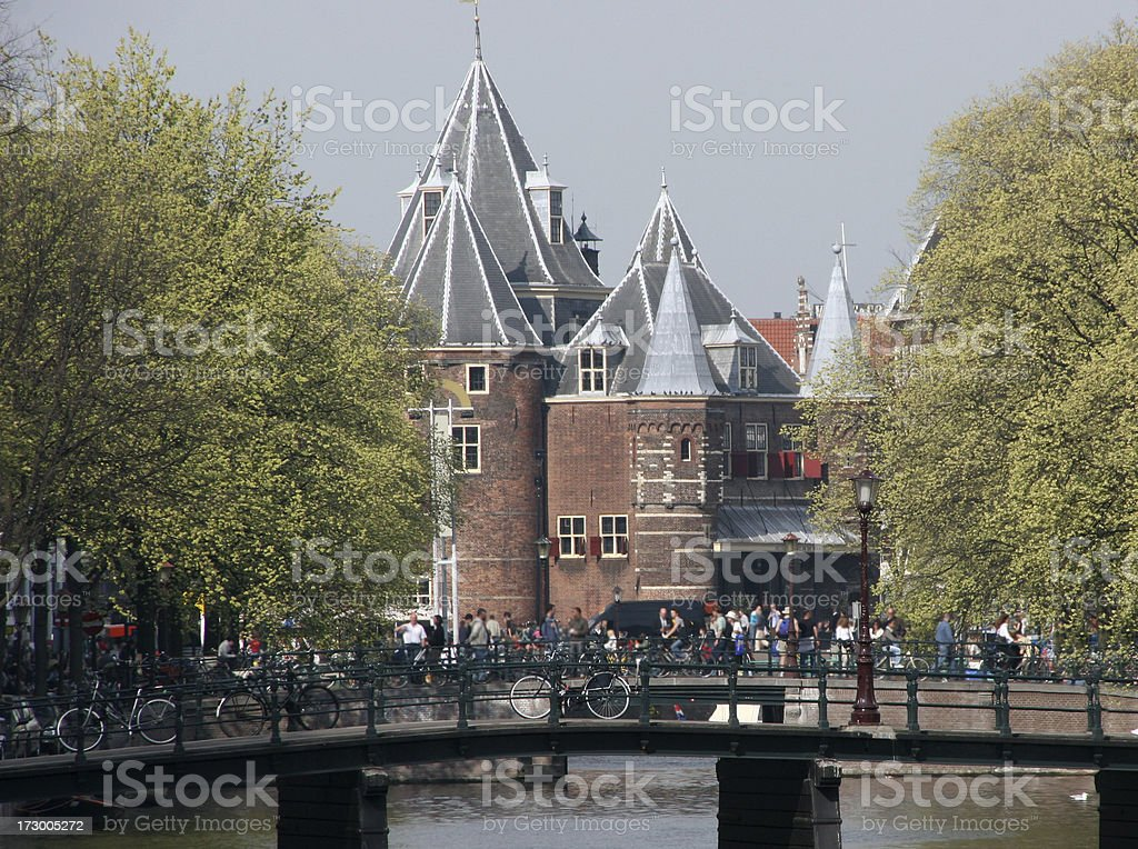 amsterdam - old waag stock photo