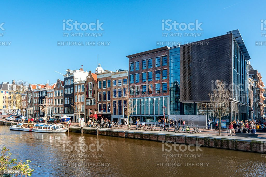 Amsterdam, Prinsengracht, Anne Frank House, Netherlands stock photo