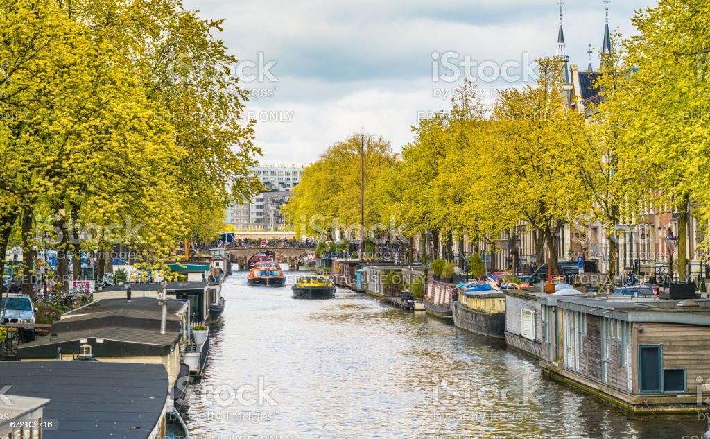 Amsterdam Prinsengracht Canal stock photo