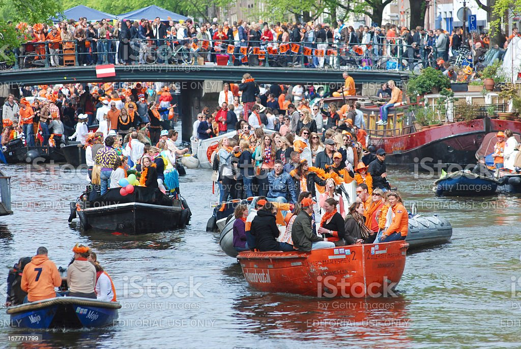 Amsterdam Queensday stock photo