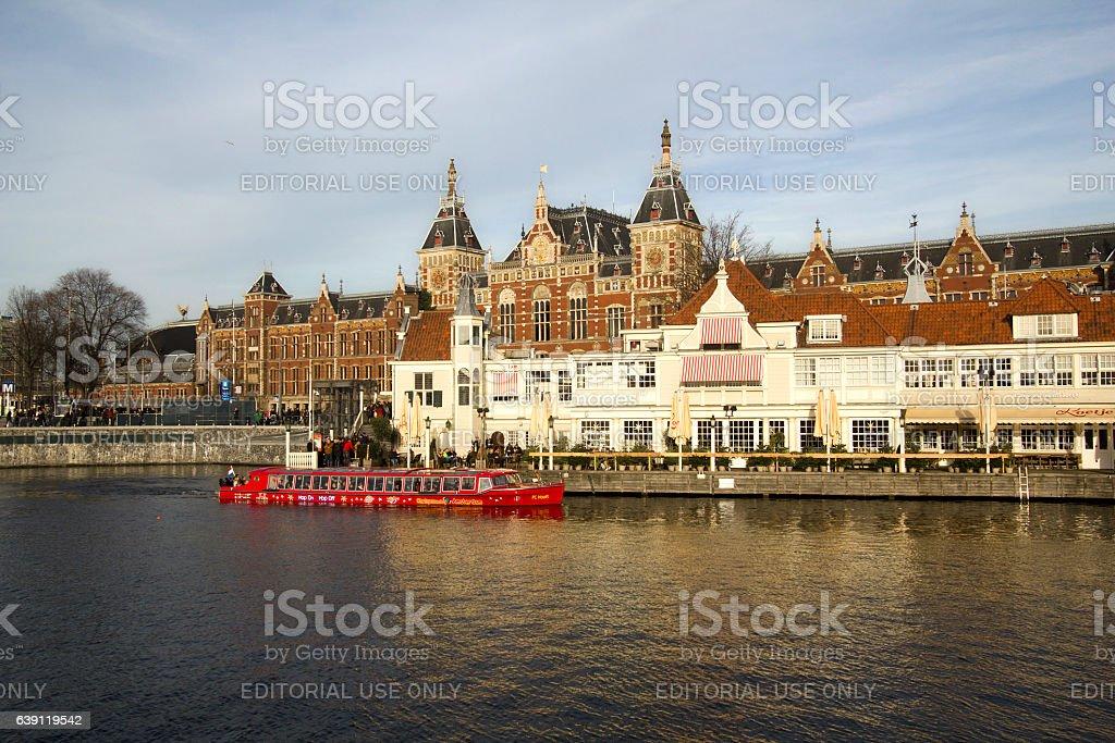 Amsterdam Railway Station stock photo
