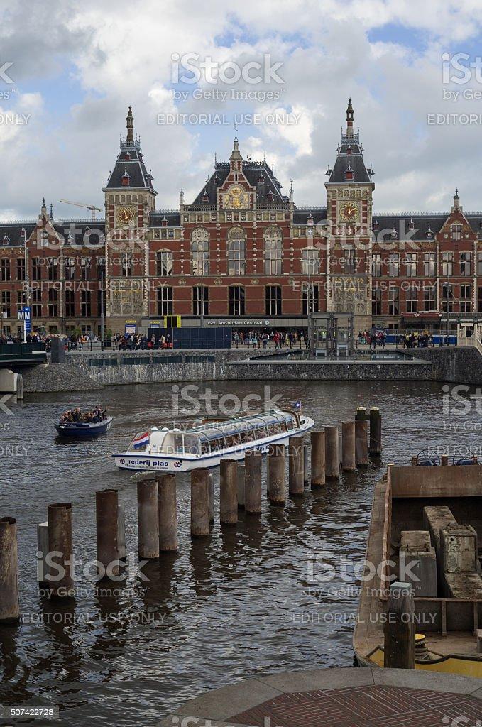 Amsterdam Railway Train Station stock photo