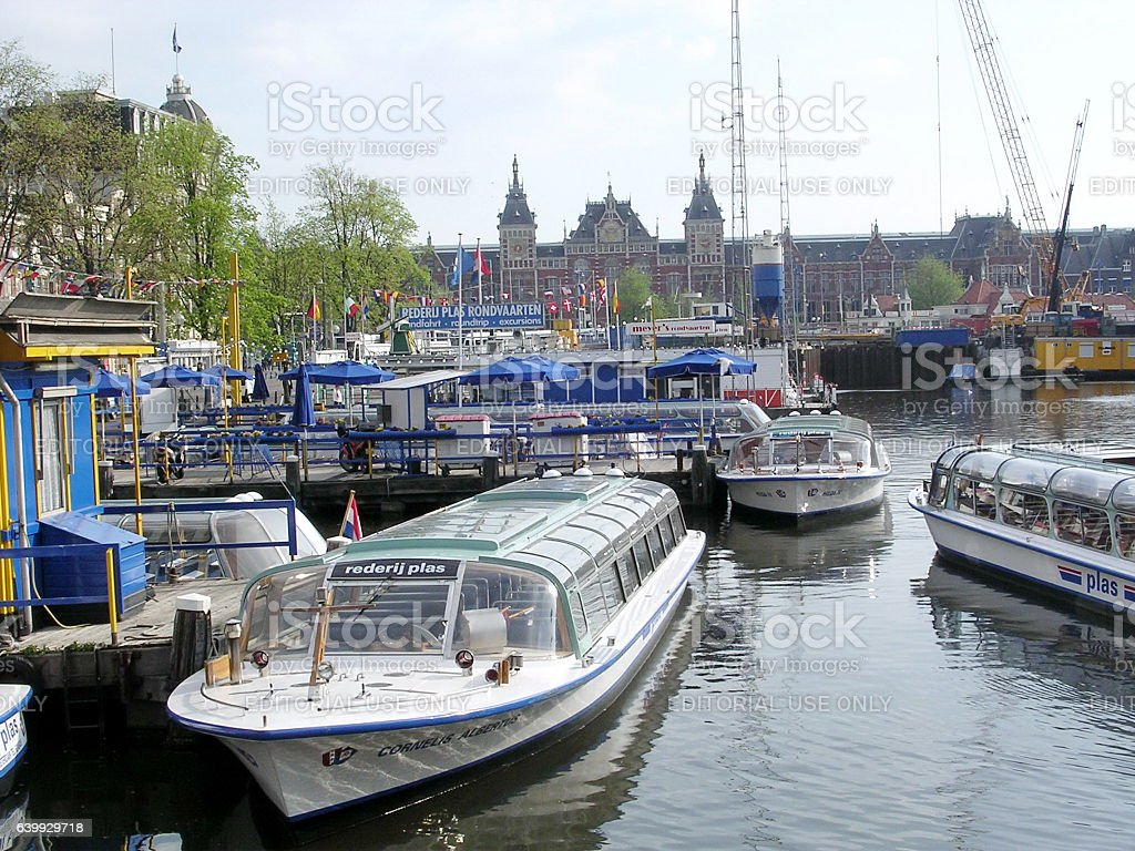 Amsterdam Rederij Plas 2003 stock photo