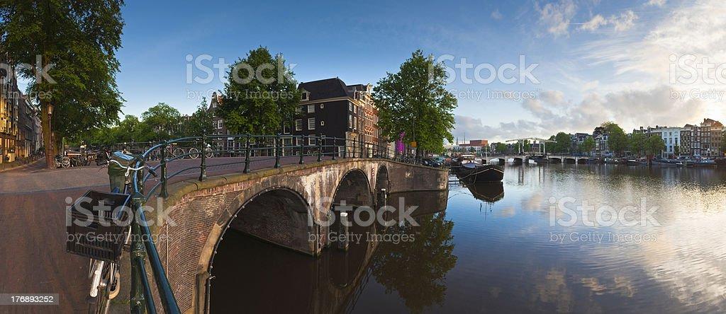 Amsterdam reflections, Holland stock photo