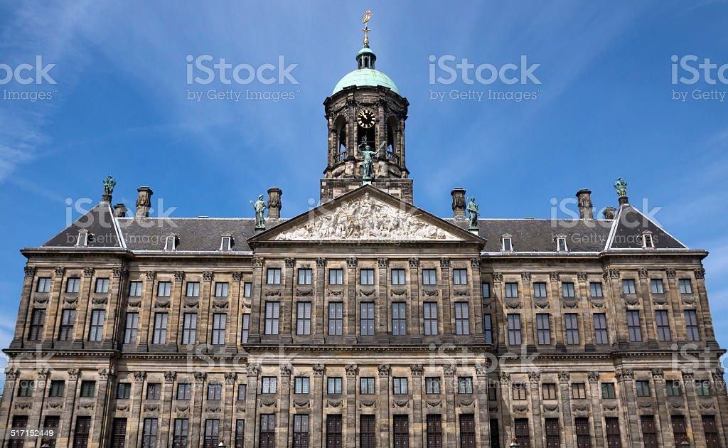 Amsterdam - Royal Palace at the Dam Square stock photo