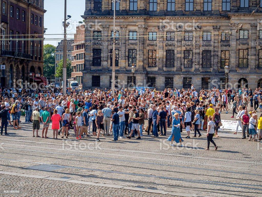 Amsterdam,  Royal Palace on the Dam. stock photo