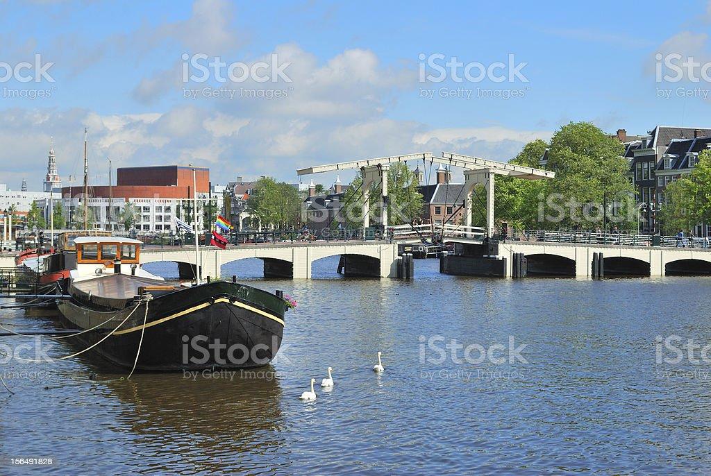 Amsterdam.  Skinny Bridge stock photo