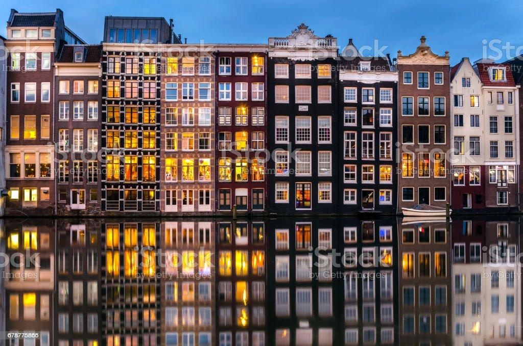 Amsterdam Skyline at Dusk stock photo