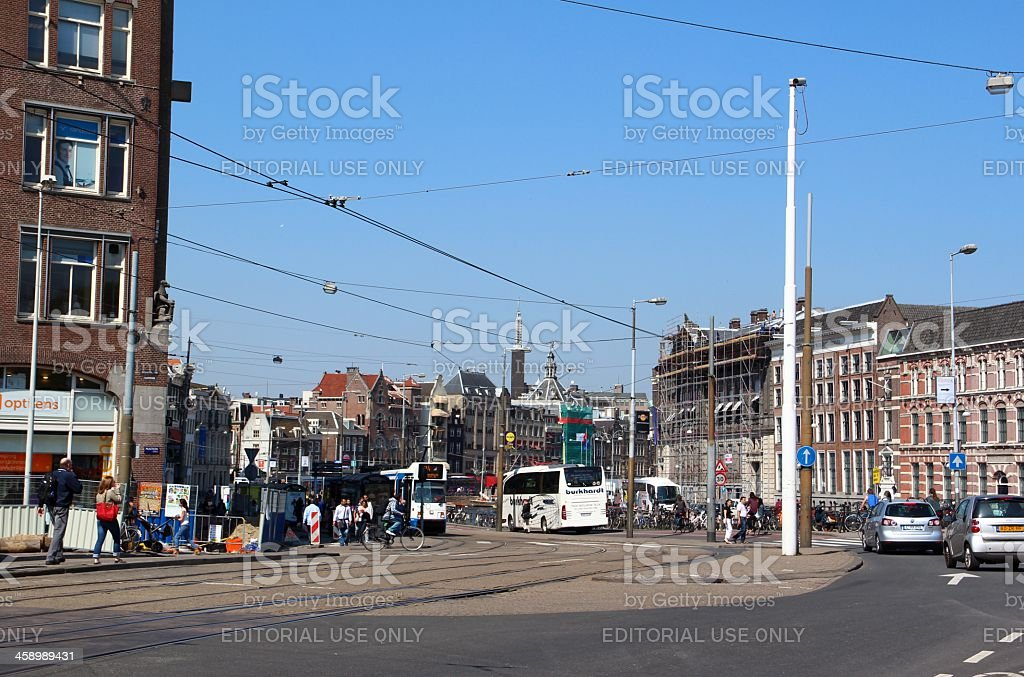 Amsterdam street view royalty-free stock photo