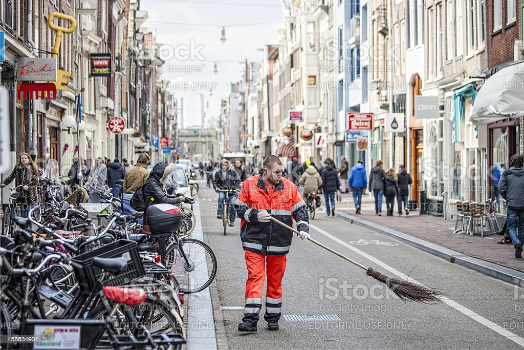 Amsterdam streets. royalty-free stock photo